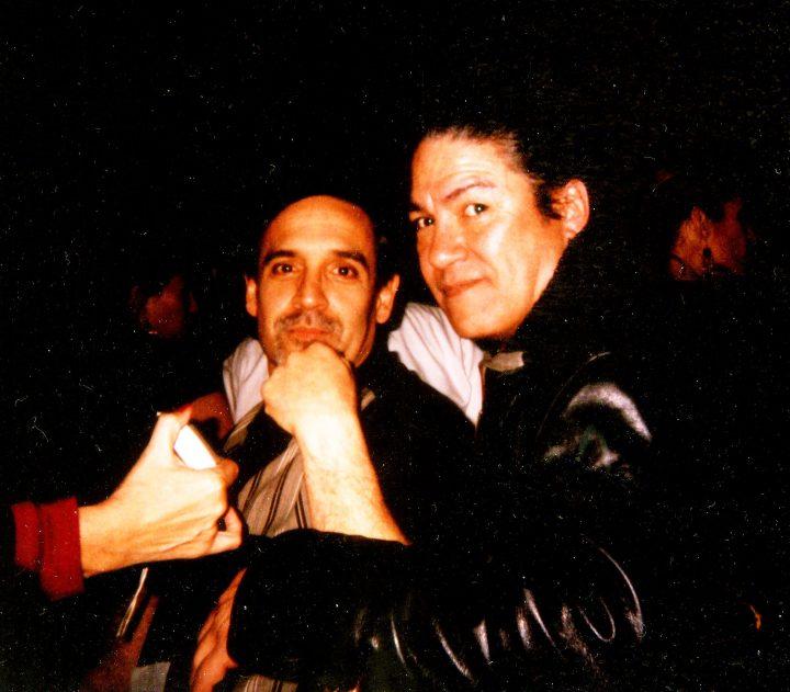 Leo Rosales and Raul Rekow, percussionists Santana - San Francisco, CA  (c. 2013)