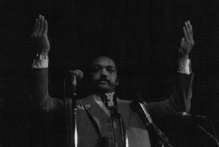Jesse 'Parting the Waves' Jackson during his run for Presidency - Hartford, CT c. 1983