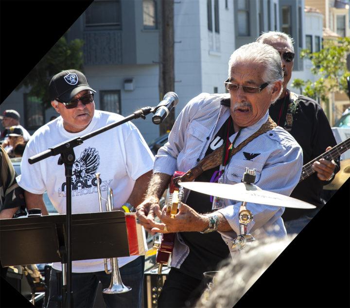 Frankie V. trumpeter and Abel Sanchez, guitarist 2017